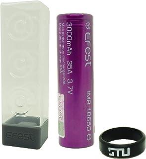 Efest リチウムマンガン 充電池 VAPE 電子タバコ バッテリー PSE認証済み STU VAPEバンド付 (IMR18650 3000mAh ×1本(ハードケース付き))