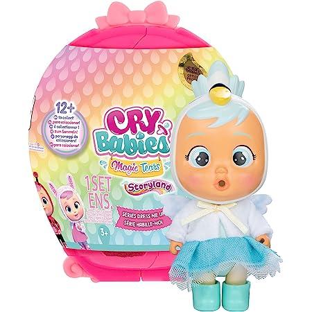 BEBÉS LLORONES LÁGRIMAS MÁGICAS Storyland Dress Me Up | Muñeca sorpresa coleccionable que llora de verdad con ropa a vestir y Accesorios - Juguete y regalo para niños y niñas +3 años