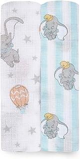 aden + anais essentials(エイデンアンドアネイエッセンシャルズ) 【日本正規品】出産祝い ベビーギフト モスリンコットン Disneyスワドル2枚入り dumbo new heights 0か月~ ESWC20007DIJ...