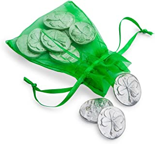 DANFORTH - Vilmain Clover Pocket Tokens, Bag of 10 Pocket Coins - Pewter - Made in USA