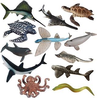 CatchStar Sea Creature Toys Variety Sea Animals Toys Plastic Ocean Animal Toy Figures Realistic Sea Creatures Life Toys Du...