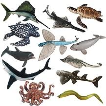 Sea Creature Toys Variety Ocean Sea Animal Toys Realistic Sea Life Animals Toys Durable Ocean Animals Figurines Waterproof Plastic Marine Animal Toys Set Gift For Kids Toddler Baby Boys 12 Piece