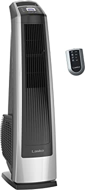 Lasko U35115 Electric Oscillating High Velocity Stand-Up Tower Fan with Timer and Remote Control for Indoor, Bedroom and Home
