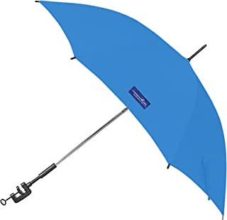 Caribbean Joe Clamp on Beach Umbrella with UV Protection, Blue, 48
