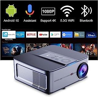 Beamer Full HD Smart Android, Artlii Play3 Native 1080p WiFi Bluetooth Projector, Google Spraakassistent, 4K Ondersteund, ...