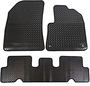 JVL Citroen Picasso MK2 2014  Fully Tailored Piece Rubber Car Mat Set with Clips Black