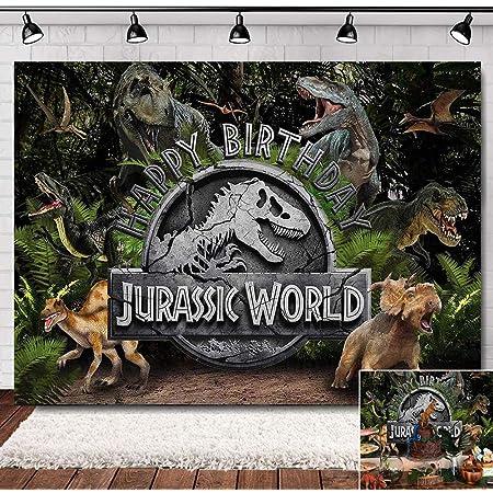 VVM Dinosaurs Backdrop Tyrannosaurus Jurassic Period Backdrop 3D Photography Backdrop for Kids Boy Birthday Party Photo Background YouTube Backdrop TMVV008