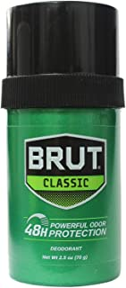 Brut Round Solid Deodorant For Men, 2.5 oz (Pack of 5)