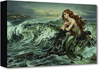 Disney Fine Art Drawn to The Shore by Heather Theurer Treasures on Canvas Little Mermaid Ariel 12 Inches x 18 Inches Reproduction Gallery Wrapped Canvas Wall Art