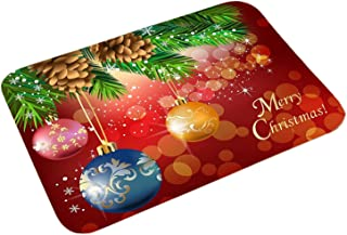CWJYYQBF Christmas Trees Decorative Welcome Doormats,Non-Slip Holiday Door Mat Winter Snowflakes for Indoor Outdoor Home G...