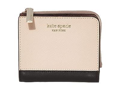 Kate Spade New York Spencer Small Bifold Wallet (Warm Beige/Black) Wallet