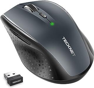 TECKNET Alpha Mouse Senza Fili, 3000DPI Wireless Mouse, 5 Livelli di DPI Regolabile (3000/2000/1600/1200/800), Ricevitore ...