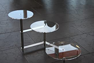 Taartstandaard, rond, acryl, trap, etagère, bruiloft, 3 etages, plexiglas, acryl, diameter 20, 25, 30 cm