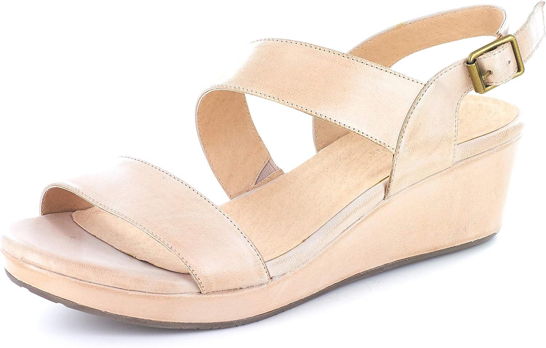 Chocolat Blu Yazmin Wedge - Asymmetric Platform Sandal - Suede/Leather Women's Shoes