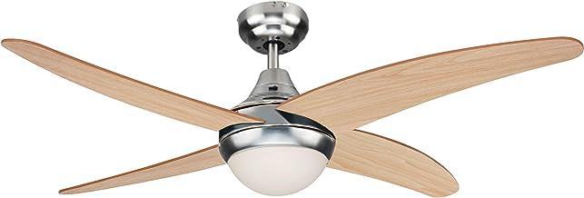 sulion achilia Ventilateur de plafond nickel/Pin clair