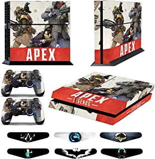 Skins for PS4 Controller - Decals for Playstation 4 Games - Stickers Cover for PS4 Console Sony Playstation Four Accessories PS4 Faceplate with Dualshock 5 Two Controllers Skin - Apex
