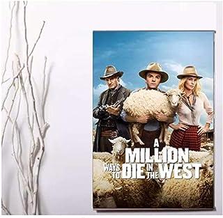 A Million Ways to Die in the West Movie Poster Artwork Unieke wanddecoratie Schilderij Canvas-60x80cm Geen frame