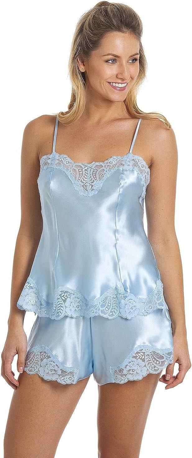 Sulis Silk Monique pure 100/% silk leavers lace camisole cami top made in Britain
