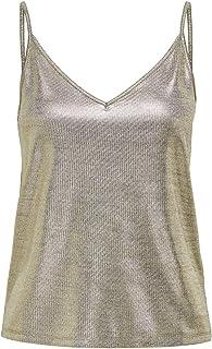 ONLY Damen Onlcarol S/L V-Neck Top JRS Trägershirt/Cami Shirt