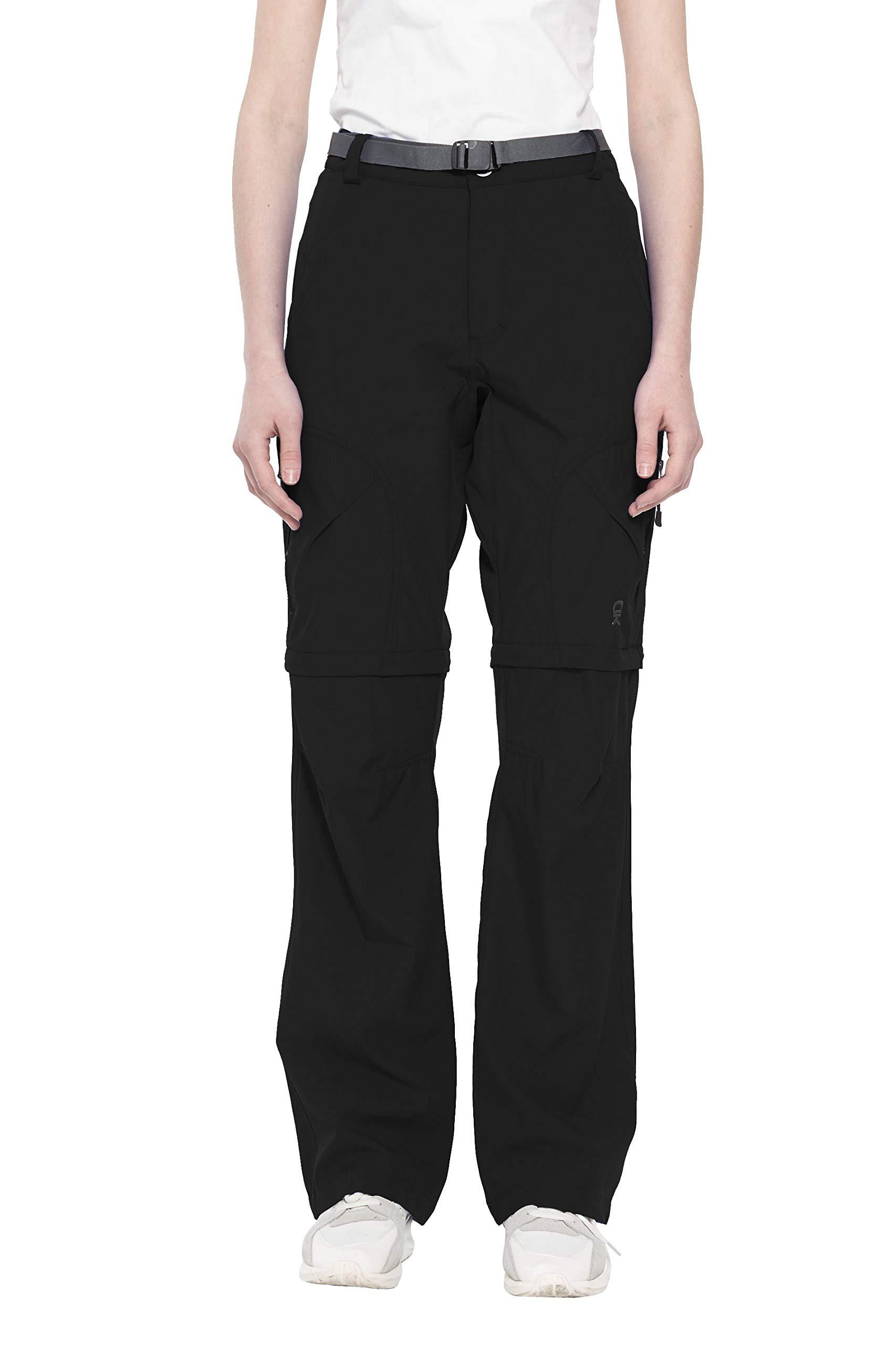 Little Donkey Andy pour femme stretch convertible Pantalon convertible à séchage rapide randonnée Pantalon, Femme, noir, Small