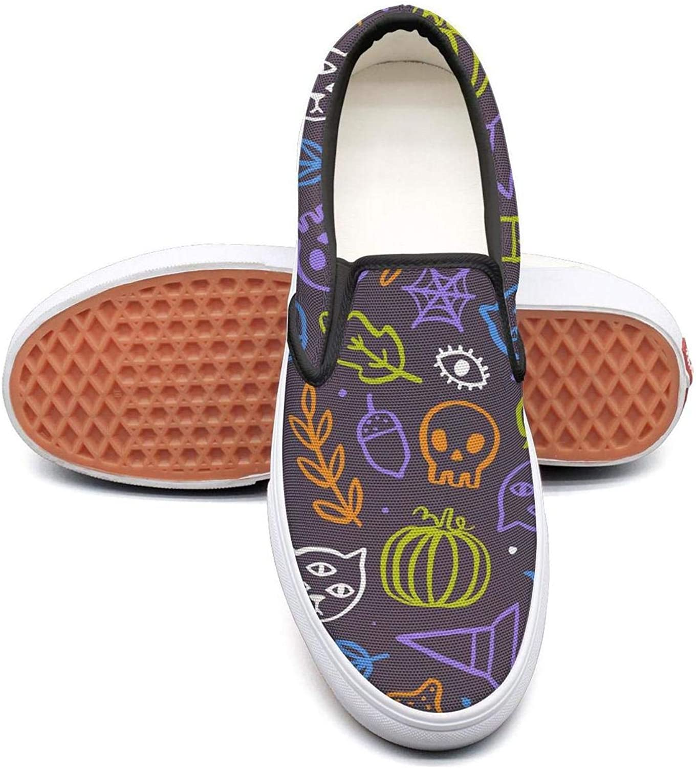 Sernfinjdr Women's Cute Trendy Halloween Fashion Casual Canvas Slip on shoes Designer Cycling Sneakers