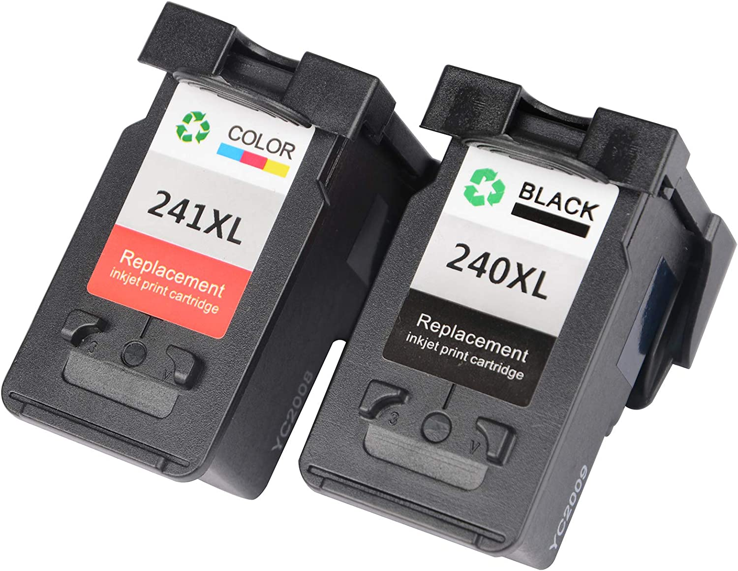 VineonTec Remanufactured for Canon PG-240XL 240XL CL-241XL 241XL Ink Cartridges Compatible for Pixma MG3620 TS5120 MX472 MX452 MG3522 MG2120 MG3520 MG3220 Printers.
