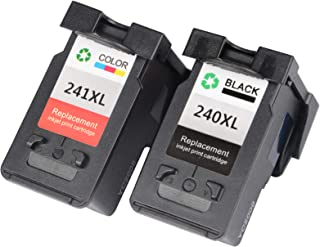 VineonTec Remanufactured for Canon PG-240XL 240XL CL-241XL 241XL Ink Cartridges Compatible for Pixma MG3620 TS5120 MX472 M...