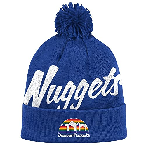 1faec62e5c463 NBA Mitchell and Ness Double Up Knit Hat with Pom