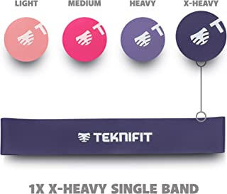 Teknifit Single Resistance Band - Choose Between 4 Strength Levels - Perfect for Home and Gym Workouts - Includes Free Exercise Guide (E-Book)