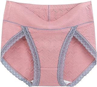 3 قطع XL~6XL سراويل داخلية قطنية صلبة عالية الخصر للنساء ملابس داخلية مسامية زائد الحجم الدانتيل ملابس داخلية الإناث (اللو...