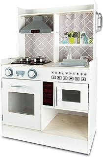 comprar comparacion Leomark FUNCTION Electric Kitchen Cocina Madera Infantil De Juguete - color BLANCO - Accesorios, para Niños, Cocinita con ...