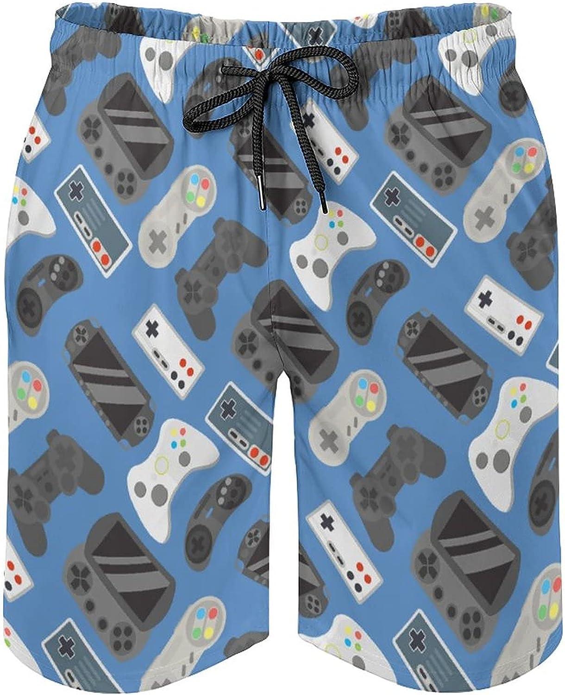 SWEET TANG Men's Swim Trunks Long Board Shorts Beach Swimwear Bathing Suits with Pockets