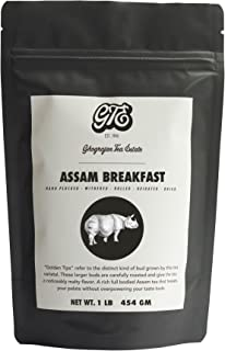Ghograjan Assam CTC Loose Black Tea from India (200+ Cups) - Fresh 2019 Harvest - Perfect for Strong Morning Milk Tea Or Indian Chai Tea - Farm2Cup No Middleman - Bulk Pack - 1 Pound