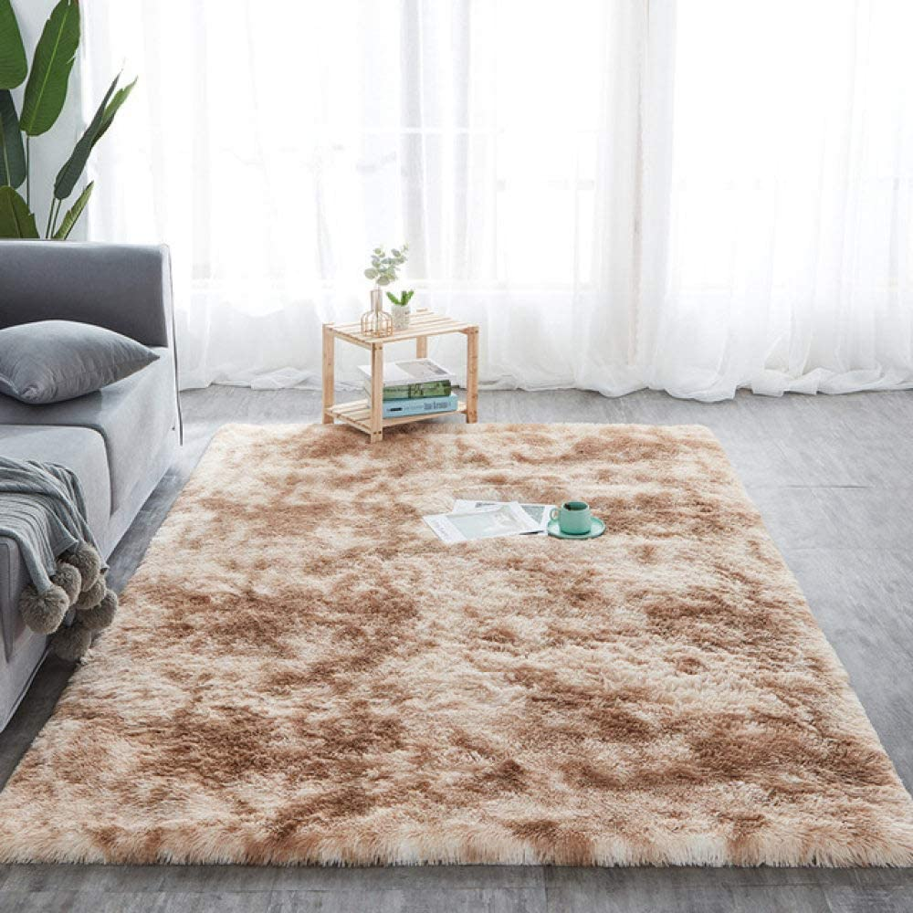 QKX Area Rugs Tie-dye Carpet Shaggy Printed Ranking TOP20 Indianapolis Mall Fluffy M Floor Plush