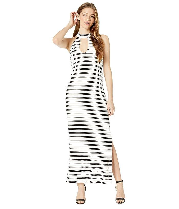 Bebe Deep V Halter Maxi Dress