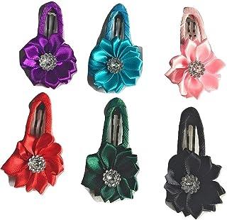 Xldreams Imported flower shape 6 snap clips/tikrok for kids Festival/Wedding/birthday Party
