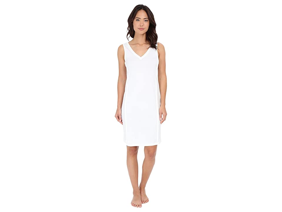 Hanro Pure Essence Tank Gown (Off-White) Women