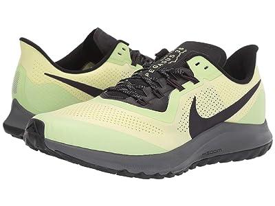 Nike Air Zoom Pegasus 36 Trail (Luminous Green/Burgundy Ash/Black) Men