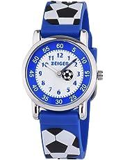 Zeiger キッズ腕時計 クォーツ アナログ シリコーン ガールズ 女の子 入園 入学 卒園 卒業祝い 子供用腕時計 ブルー
