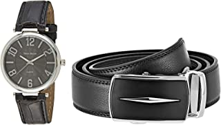 Trend Design Leather Watch Set for Men - 8604-5