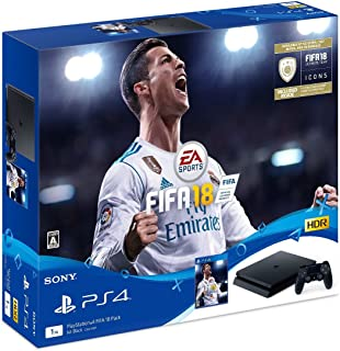 PS4 PlayStation 4 FIFA 18 Pack Game console From Japan Sony Jet Black 1TB