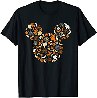 Mickey Mouse Halloween Ghosts Pumpkins Spiders T-Shirt