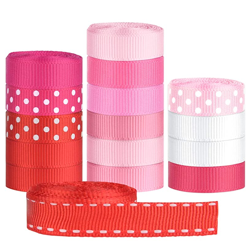 TUPARKA 14 Colours 10mm Grosgrain Ribbon for Gift Wrapping Crafts Making Hair Clip Hair Bow