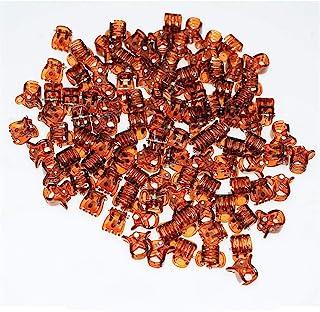 100pc/pack 1cm Hair Claws Clip for Women Girls Plastic Mini Hairpin Hair Clip Clamp Hair Accessories Gifts (100pcs brown)