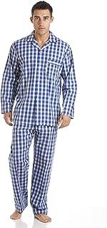 Mens Haigman Poplin 100% Cotton Pyjamas 7491 Blue Check (Big Check) 2XL