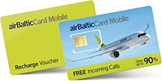 【4G LTE 無期限】中国SIM 韓国 アメリカ ヨーロッパ 北欧 世界200ヶ国 1GB、3GB、5GB〜 電話番号あり・通話/SMS対応 airBaltic mobile SIM (SIMカードのみ)