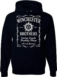 Winchester Brothers Whiskey Style Unisex Hooded Sweatshirt - New Black