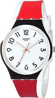 Swatch 1907 BAU Quartz Silicone Strap, White, 17 Casual Watch (Model: GW208)