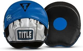 Title Boxing TITLE Platinum Perilous Micro Palm Mitts, Black/Silver/Blue