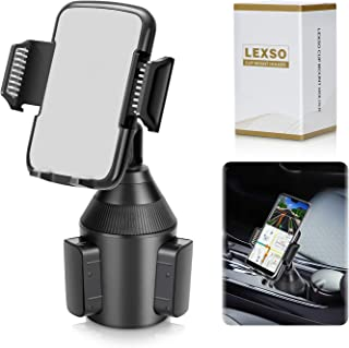 LEXSO Cup Holder Phone Mount,Universal Smart Phone Adjustable Cup Holder Cradle Car Mount for Cell Phone iPhone 11/Xs/XS/Max/X/8/7 Plus/Samsung Galaxy S10/S9/S8 Note 9 Nexus Sony、HTC、Huawei、LG.
